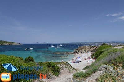 Beach in Embiez island - France