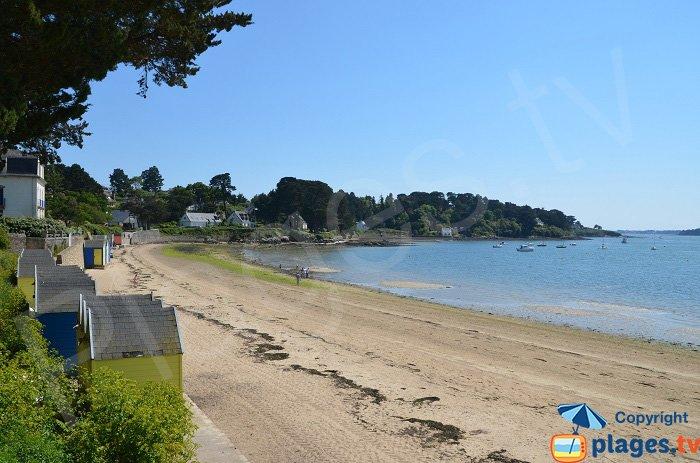 Plage principale de l'ile aux Moines - Golfe du Morbihan