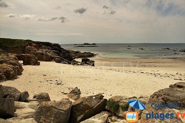 plage de l'Ile Ségal à Plouarzel