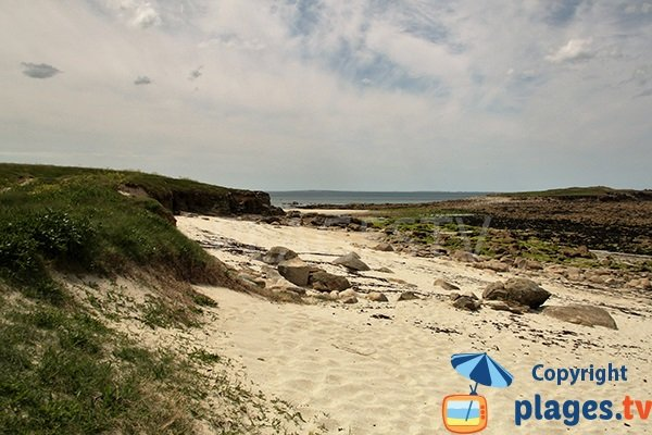 Dune et rochers de la plage de l'Ile de Segal - Plouarzel