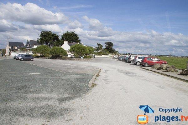 Parking de la plage de l'ile Tudy