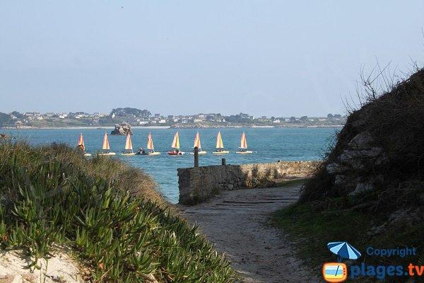 Island of Batz from Jacobins beach