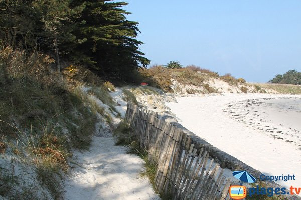Trail of Jacobins beach - Roscoff