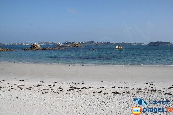Ile de Batz depuis la plage des Jacobins