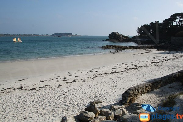Beach at the point of Perharidi - Roscoff