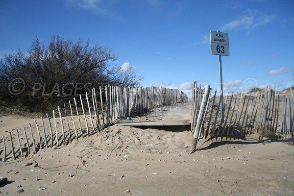 Sentier de la plage de Jalabert