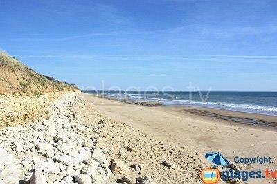 Beach in Jard sur Mer in France