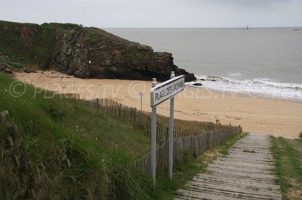 Access to Jaunais beach in St Nazaire