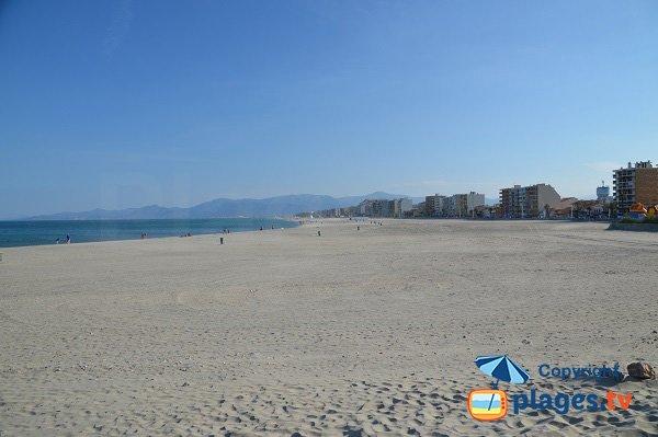 Foto della spiaggia della Jetée a Canet en Roussillon - Francia