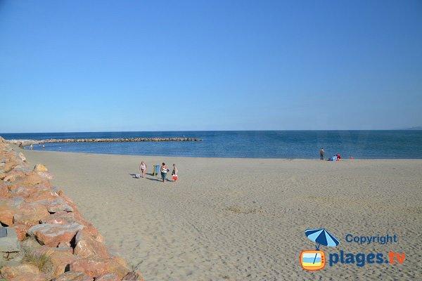 Spiaggia al pilastro in Canet Roussillon