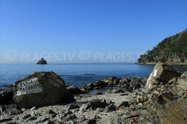 Nudist cove in La Seyne sur Mer in France