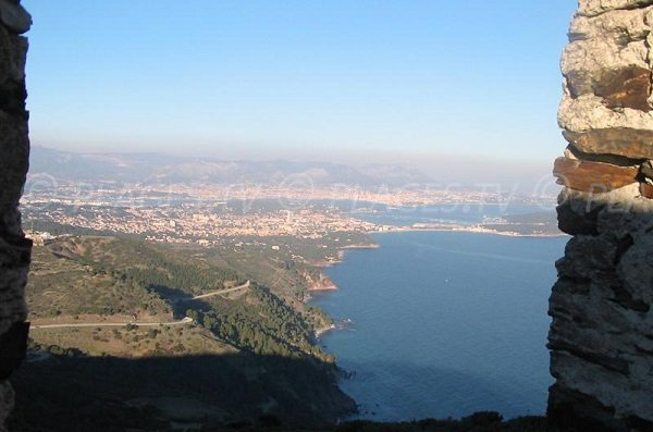 Corniche of Fabregas and bay of Toulon