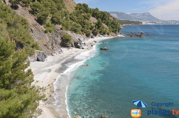 Photo de la plage du Jonquet à La Seyne sur Mer