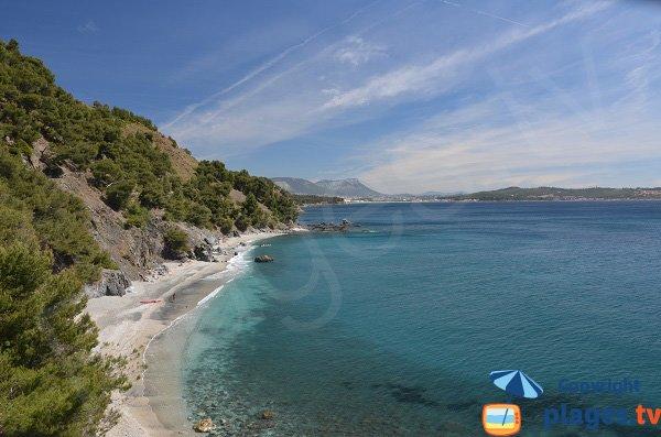 Jonquet beach in La Seyne sur Mer in France