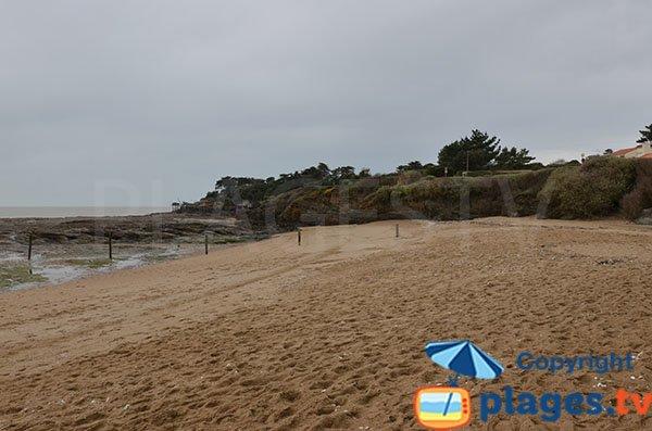 Photo de la plage de la Joselière à Pornic