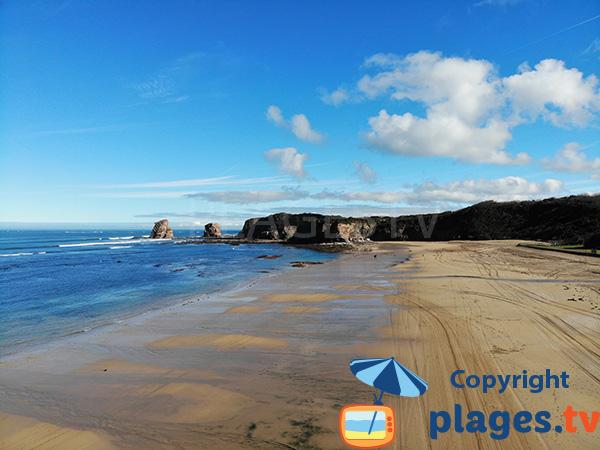 Photo de la plage des 2 Jumeaux à Hendaye
