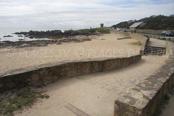 Accesso alla spiaggia nella baia di Jumel - Le Croisic
