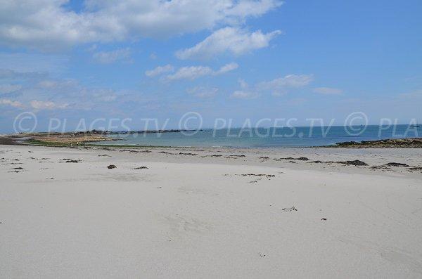 Jument beach in Quiberon at low tide