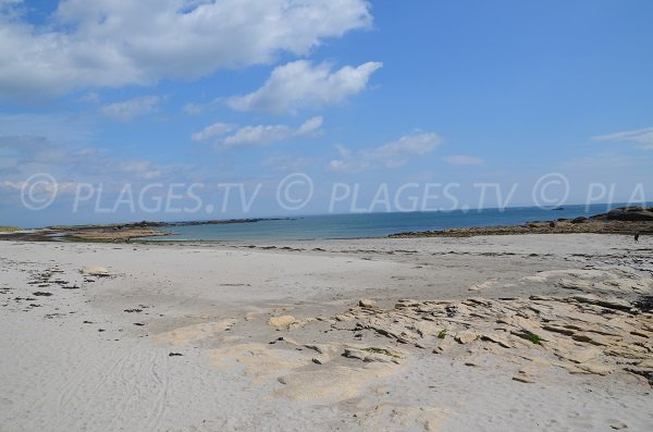 Jument beach in Quiberon in France