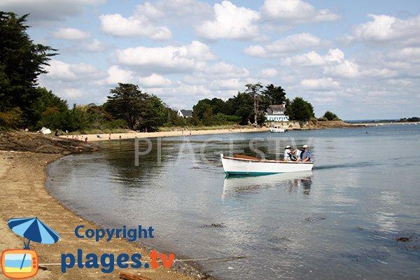 Belle crique sur l'ile d'Arz dans le golfe du Morbihan