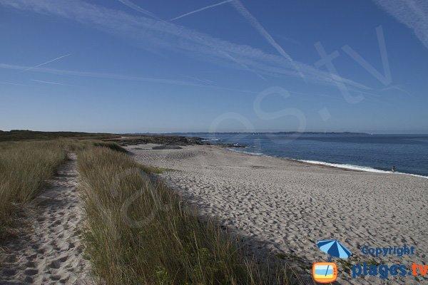 Kaolins beach in Ploemeur - France