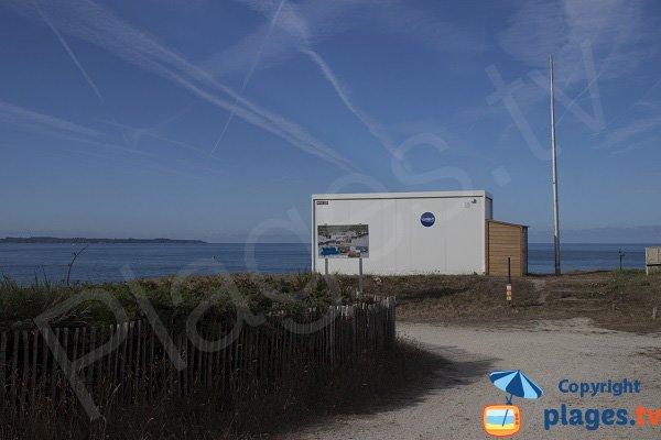 Ligeguard station of Kaolins beach - Ploemeur