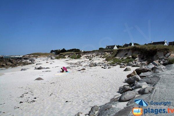 Photo de la plage de Karreg Hir à Kerlouan dans le Finistère
