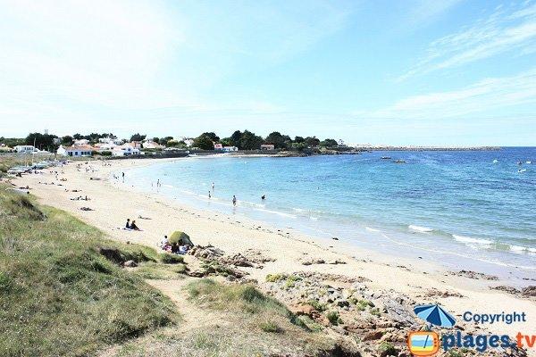 Ker Chalon beach in Ile d'Yeu in France