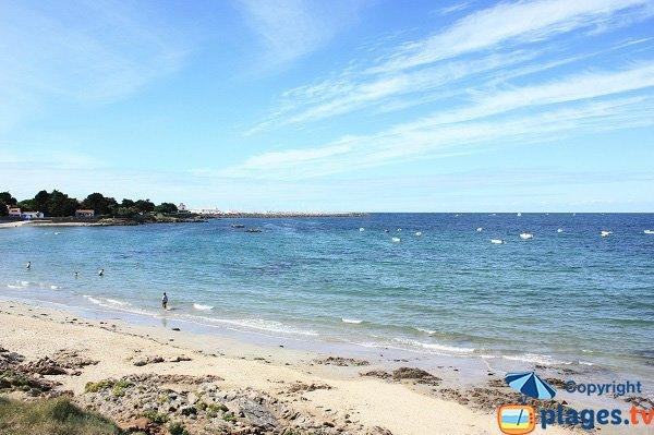 beach near the harbor of Ile d'Yeu