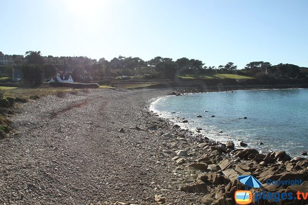Photo de la plage de Keraden à Plougasnou