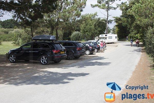 Parking de la plage de kerambigorn - Bretagne