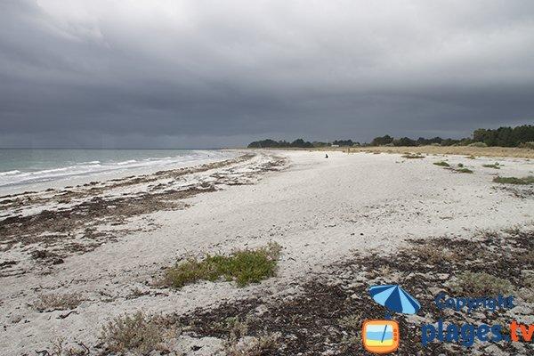 Début de la plage de Kerambigorn à Fouesnant