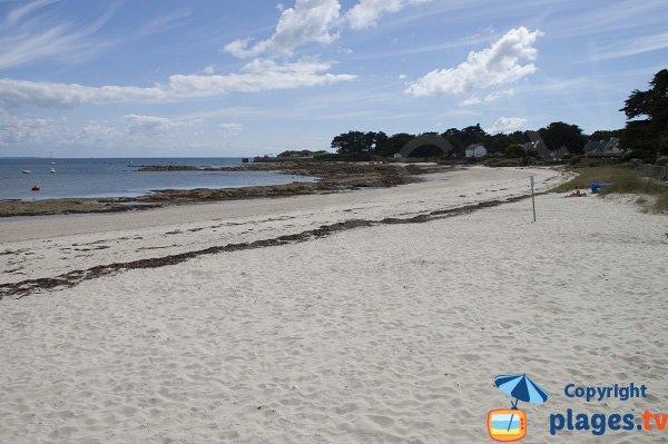 Photo de la plage de Kerbourgnec à St Pierre Quiberon