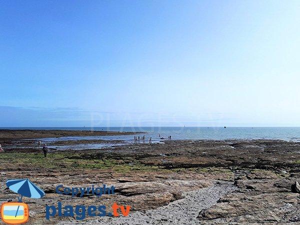 Plage de Kercambre à marée basse - St Gildas de Rhuys