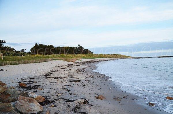 Photo de la plage de Kercambre de St Gildas