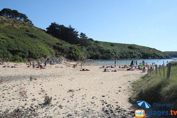 Dunes autour de la plage de Kerel - Belle Ile - Bretagne