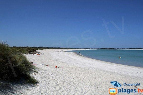 Photo de la plage de Keremma en Bretagne - Plounévez-Lochrist