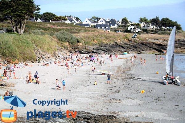 Photo de la plage de Kerfago à St Gildas en Bretagne