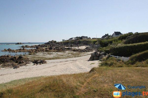 Photo de la plage de Kerfissien à Cléder