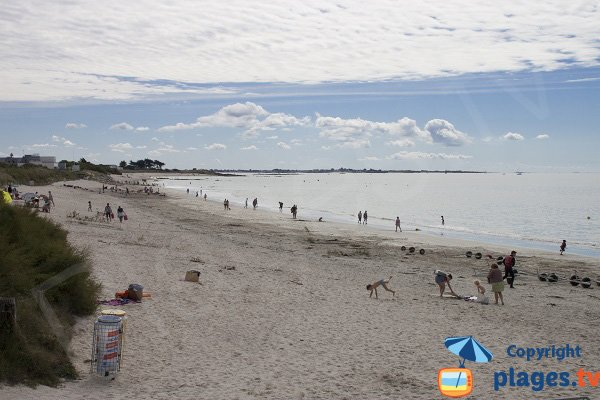 Photo de la plage de Kerguélen à Larmor-Plage - zone Les Mouettes