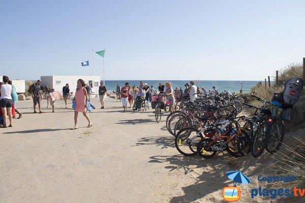 Parc à vélo de la plage de Kerhillio - Erdeven