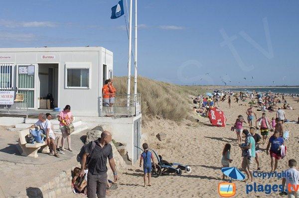 Poste de secours de la plage de Kerhillio