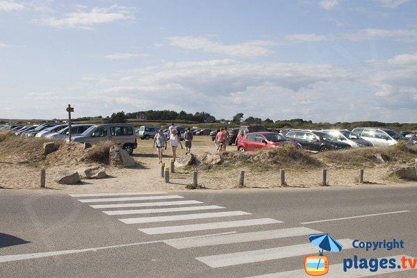 Parking de la plage de Kerhillio - Erdeven