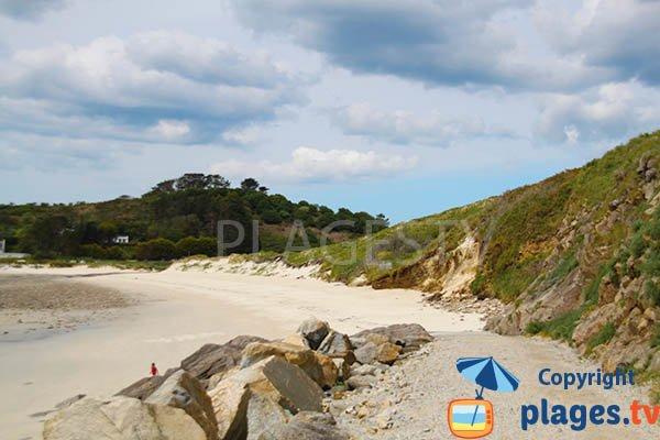 Dune de la plage de Kerhornou de Plouarzel dans le Finistère
