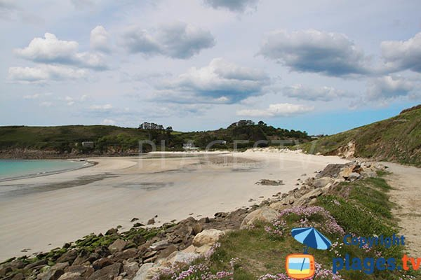 Photo de la plage de Kerhornou de Plouarzel en Bretagne