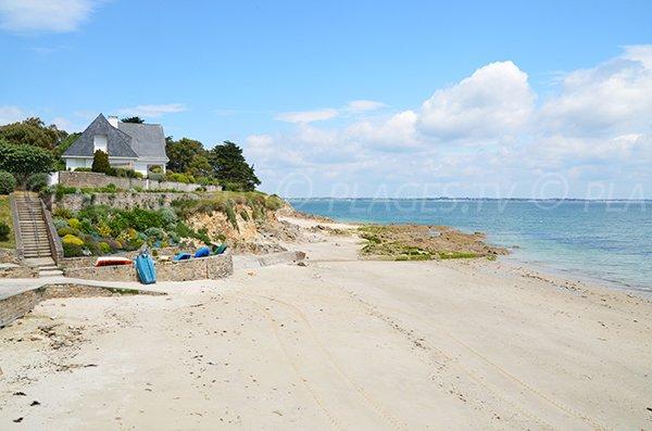 Photo de la plage de Kerhostin à St Pierre de Quiberon
