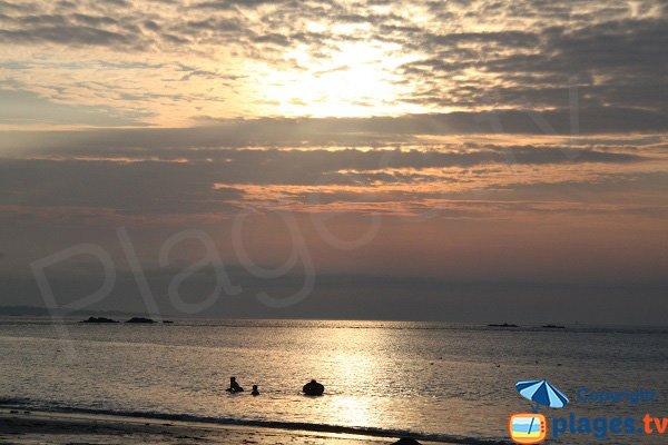Coucher de soleil sur la plage de Keriec