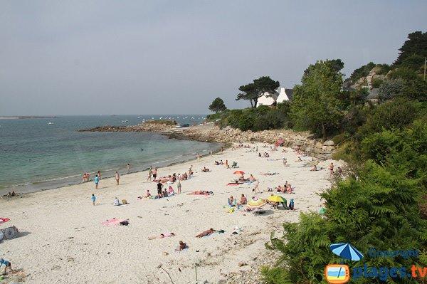 Photo de la plage de Keriec à Trélévern