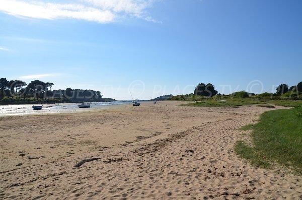Kerlavos beach in Trégastel in Brittany in France