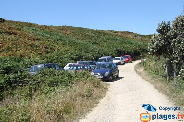 Parking de la plage de Kerlédan à Sauzon - Belle Ile